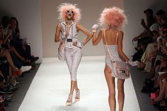 Credit: Mehdi Taamallah/AFP Also in New York, this week was Fashion Week. Here models walk the runway at the Betsey Johnson show.