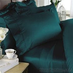 Bamboo Sheets - Teal Color by SleepBamboo®