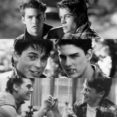 Is it acceptable to cry now? I think it's acceptable to cry now. *holds in tears*.the fact that. SODAPOP DIED IN THE VIETNAM WAR *burst into intense crying* The Outsiders Steve, The Outsiders Cast, The Outsiders Imagines, 80s Movies, Good Movies, I Movie, Ralph Macchio The Outsiders, Greaser Girl, Brat Pack