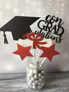 Excited to share this item from my shop: Graduation Centerpiece, 5 Piece Set of Graduation Decorations, Graduation Cap & Diploma Sticks, Class of Graduation Party Ideas Graduation Party Planning, College Graduation Parties, Graduation Party Decor, Graduation Year, Grad Parties, Graduation Table Ideas, Graduation Table Centerpieces, Grad Party Decorations, Balloon Table Centerpieces