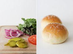 Homemade hamburger buns...must try!
