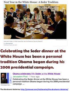 Obama celebrates fifth Seder at the White House - Celebrating the Seder dinner at the White House has been a personal tradition Obama began during his 2008 presidential campaign...
