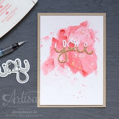 Grusskarte, Global Design Project, Aquarell, Watercolor, Flamingorot, Flirty Flamingo, Stampin' Up!, Stempelwiese