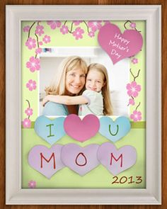 Homemade Mother's Day DIY Frame