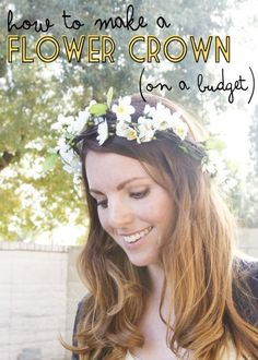 How to Make a Flower Crown (On a Budget!)