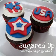 4th of July Cupcakes // 4th of July Party