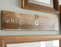 Landmark Sign  Latitude/Longitude Sign  by thePaintedNestOR
