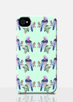 BIRD repeat pattern iPhone 5 Case  animal print iPhone 5 cover Mint Case Summer iPhone 4 Case Spring Samsung Case Cute Girly mobile cover