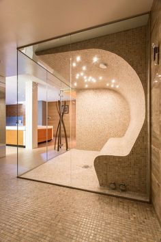 Spa-like home shower and steam room