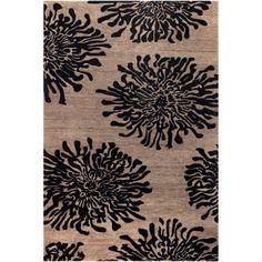 Art of Knot Altoona Wool Area Rug, Black