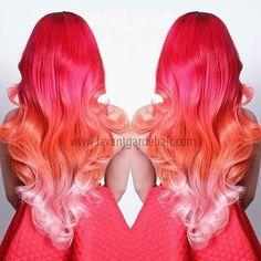 Red to Orange to Pink Ombre, I lovvveeee ittt