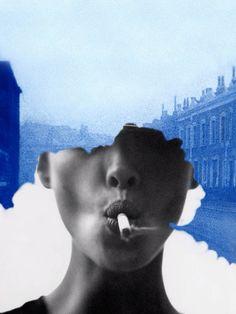 Comme des Garçons magazine that explored the sixth sense through photography, illustration and art Photomontage, Grafik Art, Art Du Collage, Design Art, Graphic Design, Creative Review, Design Graphique, Portraits, Pics Art