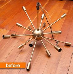 I used to have one of these...thought it was the ugliest thing I ever saw .... but I knew that it would be worth something someday...should have kept it ... Before & After: A Sputnik Stunner
