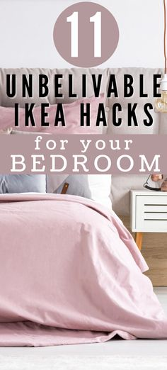 Want to change the look of your boring bedroom? Try these brilliant Ikea bedroom ideas. Best IKEA bed hack ideas including DIY hanging shelves, DIY wall shelves, Ikea bed frames and other Ikea bedroom furniture storage ideas.