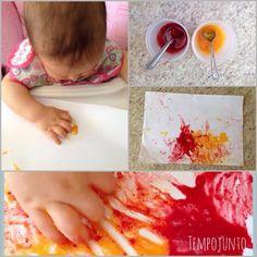 Atividade para bebês de 6 a 12 meses – pintura com tinta comestível Craft Activities, Toddler Activities, Baby Crafts, Crafts For Kids, Infant Curriculum, Montessori Baby, Happy Baby, Stylish Kids, Teaching Art
