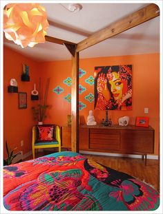 the orange already looks kinda like my room! maybe add some pops of blue to make more bohemian!!
