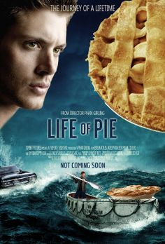 I haven't even gotten to this point in the series, but thanks to Pinterest, I know all about Dean obsession with pie.  I cracked up at this one