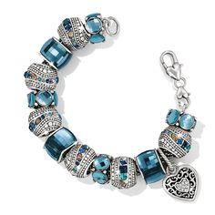 Brighton Treasure, Roundabout, Ice Cube beads with Reno Heart charm
