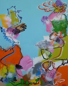 Bye bye Birdie, schilderij van Marten Alkema | Abstract | Modern | Kunst