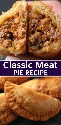 Classic Meat Pie. #meat #100krecipes #pie Meat Hand Pie Recipe, Pork Pie Recipe, Cajun Meat Pie Recipe, Meat Pie Pastry Recipe, Scottish Meat Pie Recipe, Canadian Meat Pie Recipe, Easy Pie Recipes, Meat Recipes, Uruguay