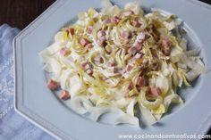 Ensalada templada de endibias con salsa de queso roquefort. www.cocinandoentreolivos (13) by Cocinando entre Olivos, via Flickr