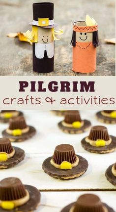 Pilgrim Crafts and Activities is part of Kids Crafts For Boys - These Pilgrim Crafts and Activities for Kids teach about some of the first settlers in America Recipes, crafts, worksheets, & hands on fun! Kids Food Crafts, Thanksgiving Crafts For Toddlers, Thanksgiving Art, Easy Fall Crafts, Thanksgiving Crafts For Kids, Toddler Crafts, Thanksgiving Decorations, Kid Crafts, Halloween Crafts