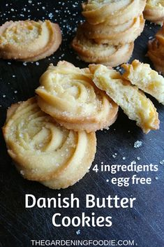 Light, crisp and delicate, my recipe for these classic Danish Butter cookies are. - Cookie Recipes - Light, crisp and delicate, my recipe for these classic Danish Butter cookies are absolute melt in y - Easy Baking Recipes, Easy Cookie Recipes, Great Recipes, Dessert Recipes, Cooking Recipes, Baking Ideas, Basic Cookie Recipe, Baking Snacks, Easy Biscuit Recipe