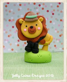Jungle Safari Lion topper by Jelly Cakes, via Flickr