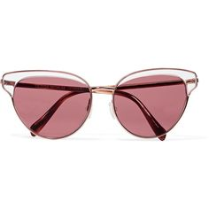 Oliver Peoples - Josa Cat-eye Acetate And Rose Gold-tone Sunglasses ($148) ❤ liked on Polyvore featuring accessories, eyewear, sunglasses, glasses, rose gold, cat eye glasses, clear lens sunglasses, tortoise cat eye sunglasses, cat-eye glasses and cateye sunglasses