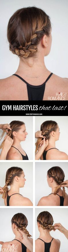 Hair Romance - gym workout hairstyle tutorial - double french braid tutorial