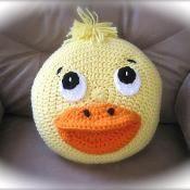 Crochet Duck Duckling Pillow - via @Craftsy