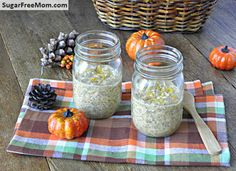 """<p>This healthy and flavorful fall breakfast is perfect for on-the-go mornings!</p> <p><a href=""""http://www.sugarfreemom.com/recipes/no-bake-overnight-sugar-free-pumpkin-pie-oats/"""" target=""""_blank"""">Get the recipe!</a></p>"""