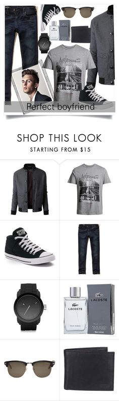 """""""Perfect boyfriend"""" by gloria-mgoncalves ❤ liked on Polyvore featuring LE3NO, Jack & Jones, Converse, Hollister Co., Diesel, Lacoste, Tom Ford, Polaroid, Levi's and men's fashion"""