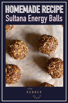 You can never go wrong with energy balls. Homemade energy balls are packed with nutrition, taste & health. With the right ingredients, you can make these at home and snack on them on-the-go without the need for you to worry about food. It's a favorite that can actually be enjoyed any time of year. Recipe on the blog...read now! Runner Diet, Some Mores Recipe, Runner Beans, Energy Balls, Afternoon Snacks, Better Life, A Food, Food Processor Recipes, Dairy Free