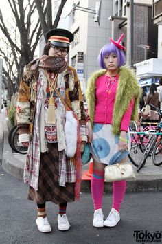Tokyo.  I love people who take fashion risks.  I always wonder what kind of occasion warrants such an outrageous outfit.  I love it.