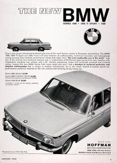 1964 BMW 1800 Sedan original vintage ad. The new BMW 1800 Series. 102 ...