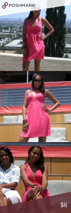 SUNDRESS 👗 Pink Pink sundress, knee length with lined padding Dresses Maxi