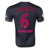 PSG 2015-2016 Season VERRATTI #6 Third Soccer Jersey
