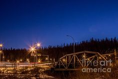 Night Lights In Fort Mcmurray