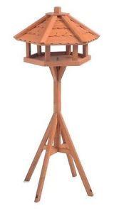 Wild Birds Upright Table House Free Standing Wooden Garden Birds Renewable Wood