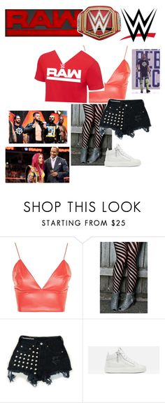 """""""Contest - Favorite Brand [RAW]"""" by lsd-and-halloweencandy ❤ liked on Polyvore featuring WWE, CENA, WYLDR, Levi's, Giuseppe Zanotti, Champion and Universal"""