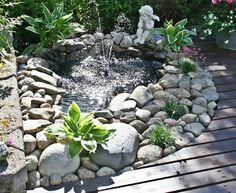 pond for backyard Garden Oasis, Garden Pool, Summer Garden, Water Garden, Lawn And Garden, Garden Design, Landscape Design, Pond Water Features, Backyard Paradise