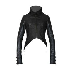 You can sure to make an entrance while wearing this Jan Hilmer/Sparrow Dove Tail Jacket. It is made of soft leather with a subtle burnt out polka dot leather as an accent. It has cotton ribbed jersey on the sides for stretch and that perfect fit with a pleated leather back for the outmost beauty. A definite show stopper.