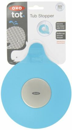 OXO Tot Silicone Tub Drain Stopper- Aqua - The OXO Tot Tub Drain Stopper keeps water in the tub during bath time. Soft, flexible silicone makes it safe for little fingers, and a suction cup secures the Stopper to the tub floor with a water-tig. Bathtubs For Sale, Christmas List 2016, Drain Repair, Baby Tub, Big Baths, Latex Allergy, Aqua, Bathtub Drain, Home Goods Decor
