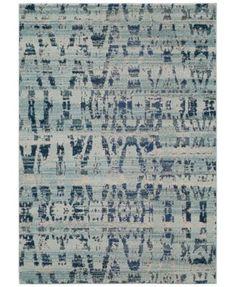 "Momeni Modern Loom ML4 Ocean Blue 7'10""x9'10"" Area Rug | macys.com"