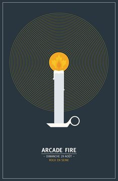 ARCADE FIRE - Music Poster Design by Denis Carrier