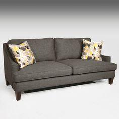 Fairmont Designs Made To Order Malakai Dark Grey Sofa - Overstock™ Shopping - Great Deals on Fairmont Designs Sofas & Loveseats Dark Gray Sofa, Grey Couches, Dark Grey, Cushions For Grey Sofa, Sofa Living, Living Room Furniture, Furniture Decor, Living Area, Fairmont Designs