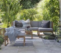 Giardimo New York Gartenlounge im trendigen und schlichten Design. #Lounge #Sofa #Garten #Terrasse #Balkon #Galaxus