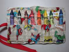 Marvel Comics  XMen  Crayon Roll  Large Crayons  by adrisadorables, $10.00