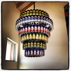 Beer can light beer lights and craft new belgium brewing chandelier made of beer cans httpbeerauctions aloadofball Gallery